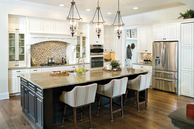 Somerset 1239 traditional kitchen tampa by arthur for Model home kitchens