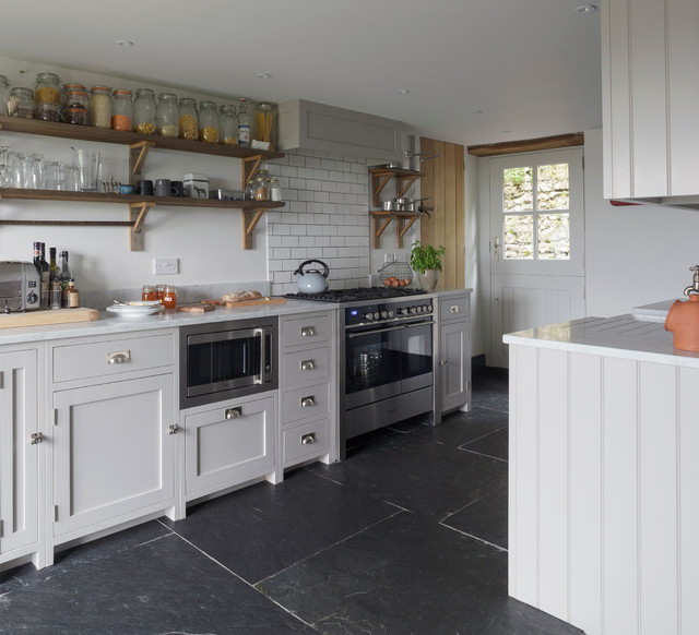 somerset cottage country kitchen cornwall by
