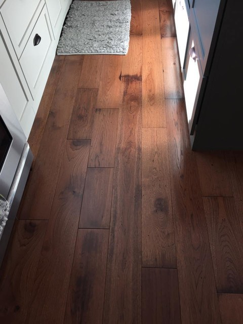 Somerset Wide Plank Hickory Saddle contemporary-kitchen