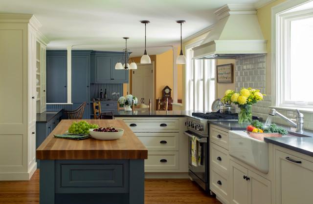 Something Blue Farmhouse Kitchen