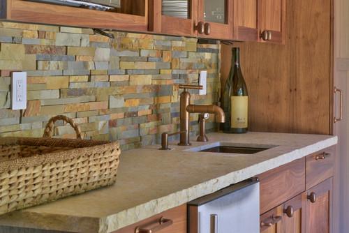 what kind of stone veneer is used on the back splash beautiful
