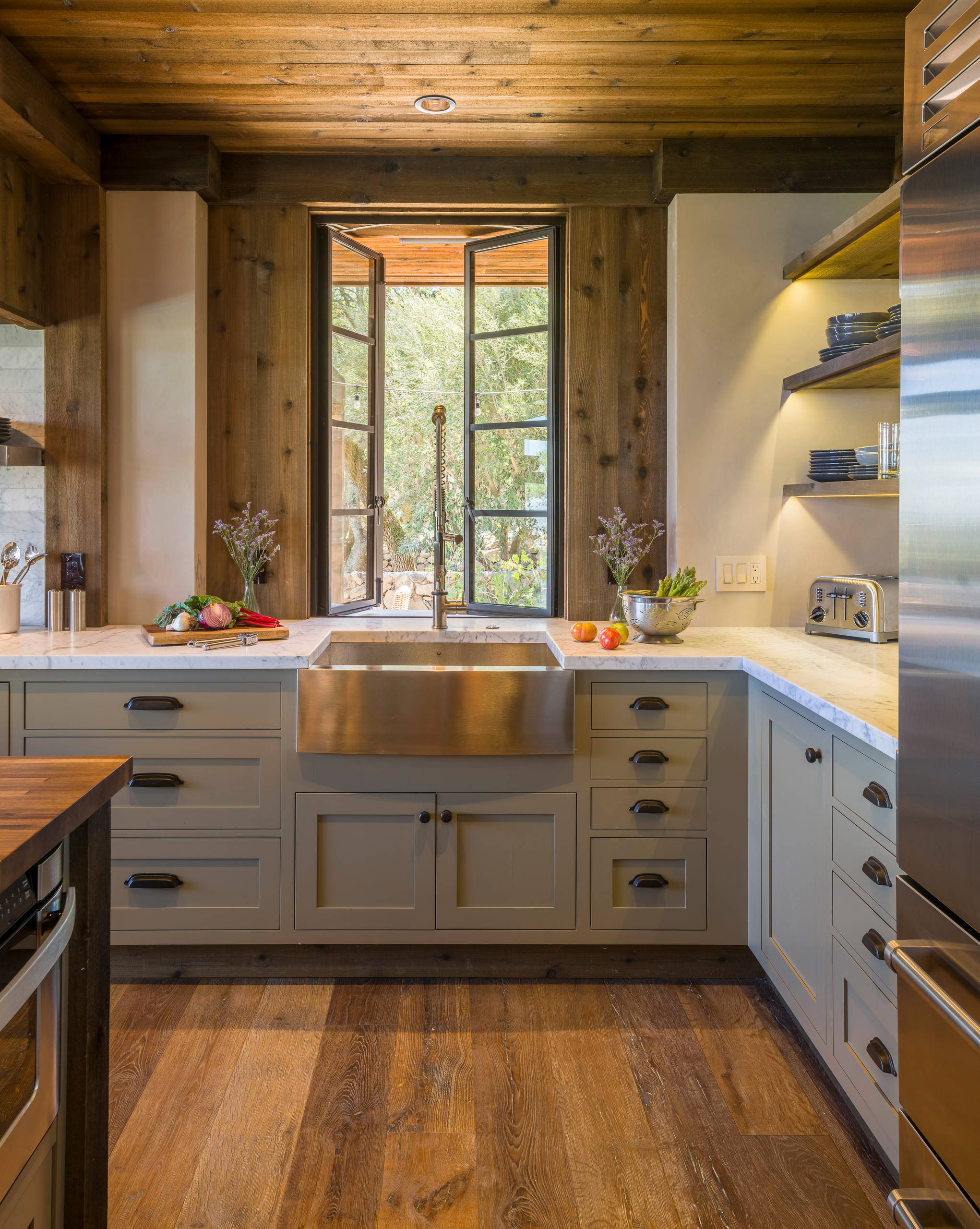 75 Beautiful Rustic Kitchen With Gray Cabinets Pictures Ideas March 2021 Houzz