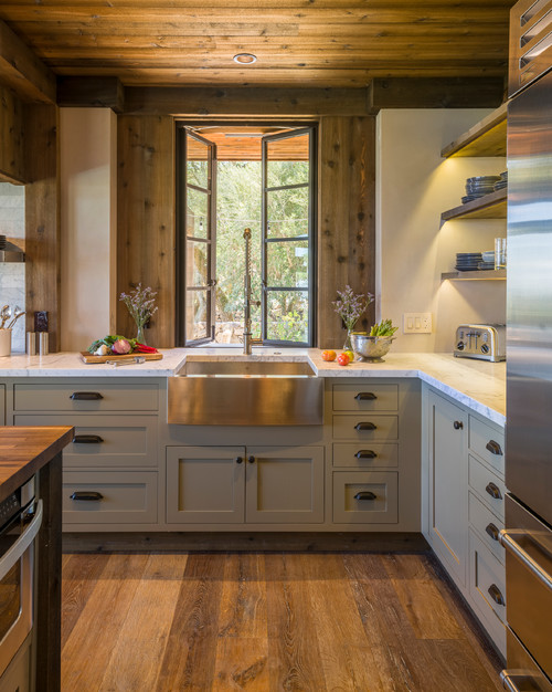 3 countertop and cabinet combinations for estate kitchens for Kitchen countertops and cabinet combinations