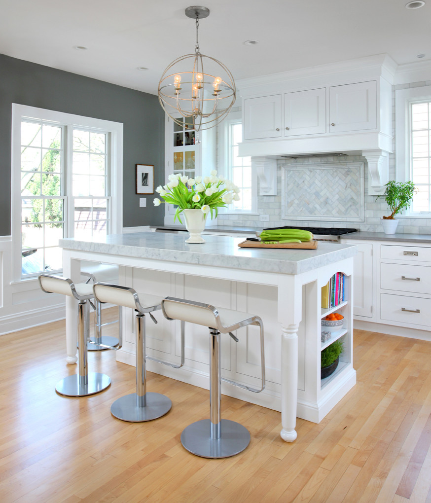 Gray Walls White Cabinets Houzz