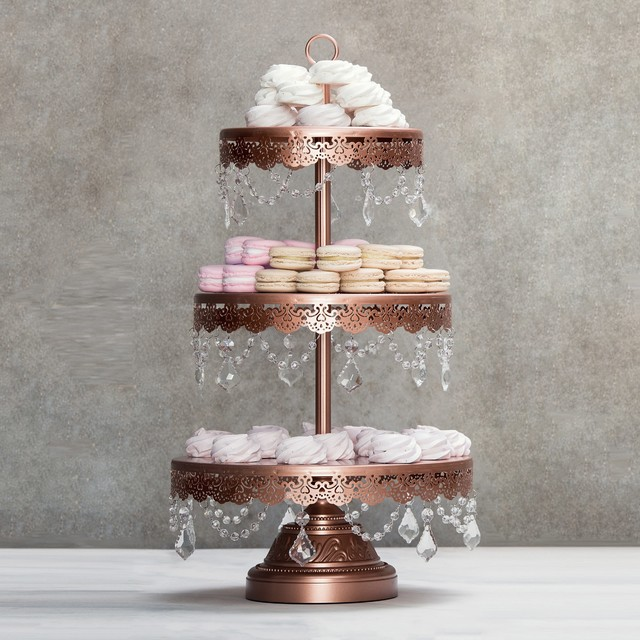 Sophia 3 Tier Rose Gold Dessert Stand By Amalfi Decor