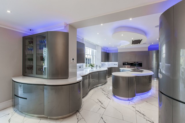 sophia contemporary kitchen - Futuristic Kitchen