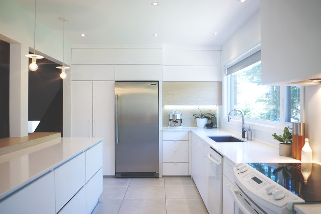 Inspiration for a scandinavian kitchen remodel in Other