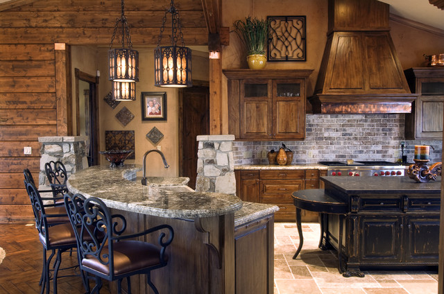 Sophisticated Cabin Kitchen eclectic-kitchen