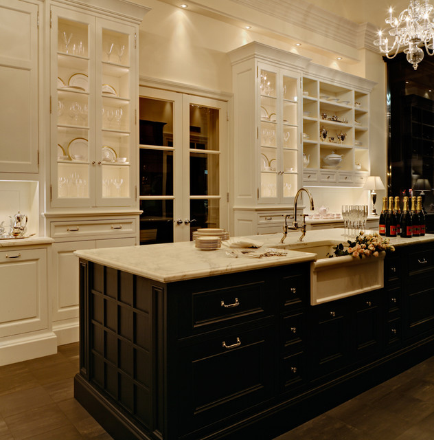 Traditional White Kitchen Design 3d Rendering: Sophisticated Classic