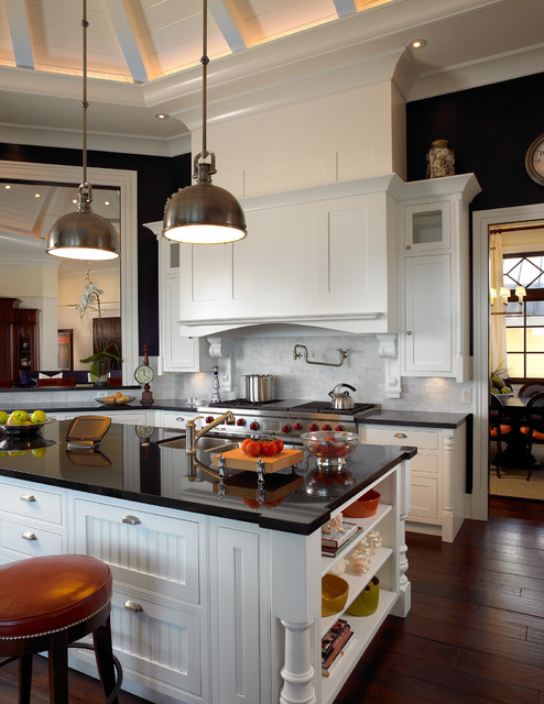 Sophisticated Key West Style eclectic kitchen