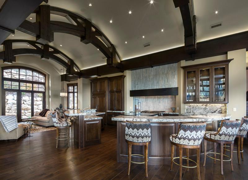 Example of a minimalist kitchen design in Salt Lake City