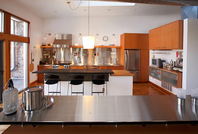 Soulard Loft Apartment Industrial Kitchen St Louis