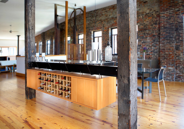 Soulard Loft Apartment Industrial Kitchen