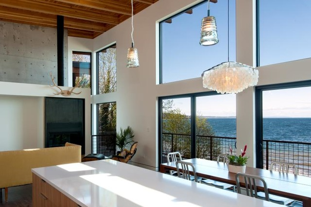 Sound view house contemporary kitchen seattle by coates design architects seattle - Kitchen designers seattle ...