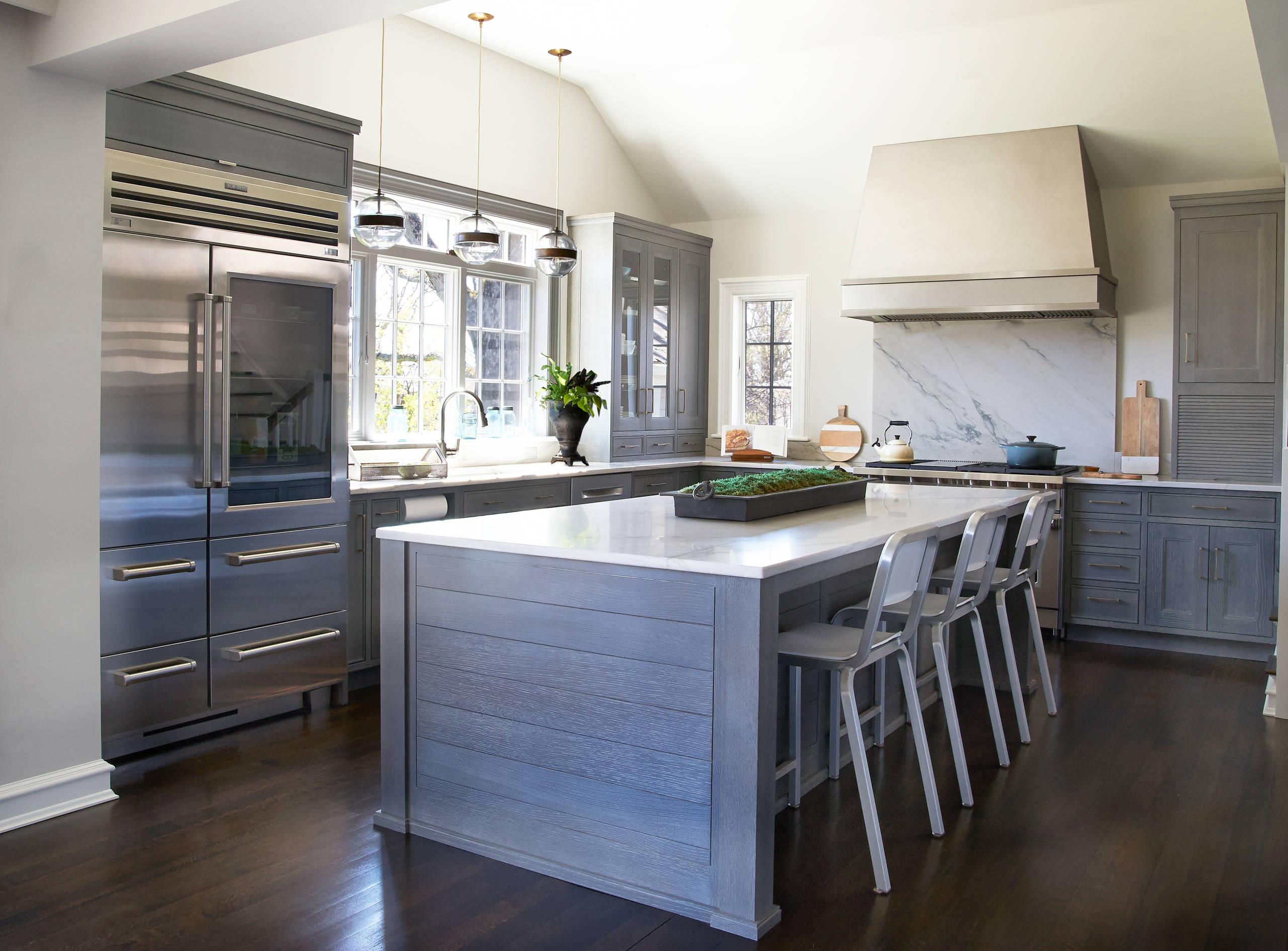 Cerused Oak Kitchen Cabinet Houzz