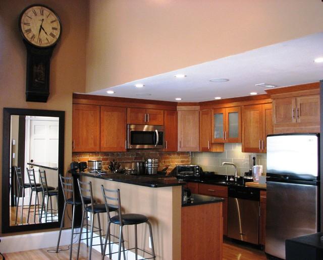 South Boston Loft traditional-kitchen