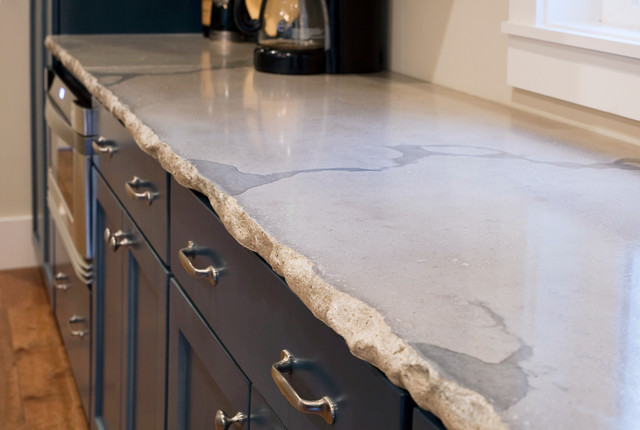 Inspiration For A Contemporary Kitchen Remodel In Charleston With Concrete Countertops