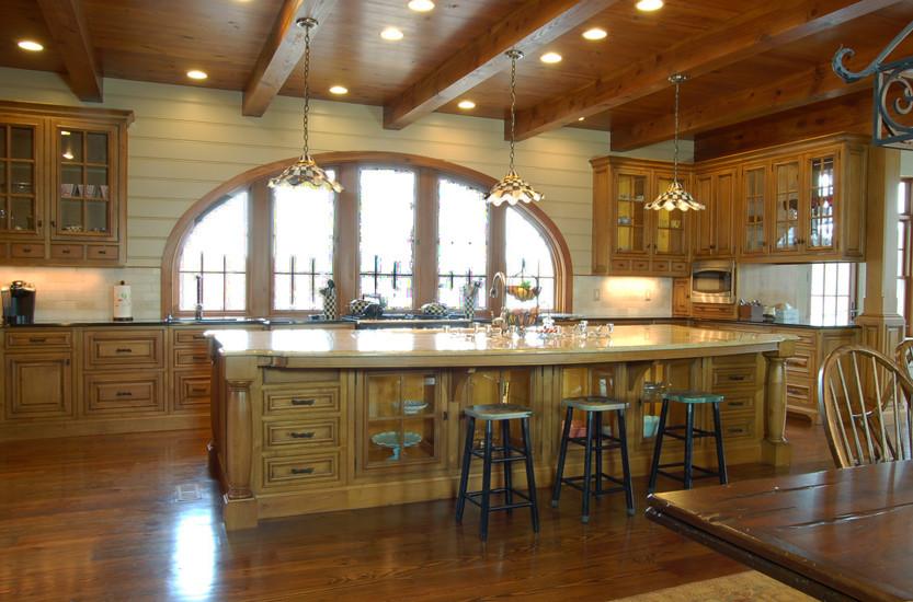 South Carolina Lakehouse Kitchen - Traditional - Kitchen ...