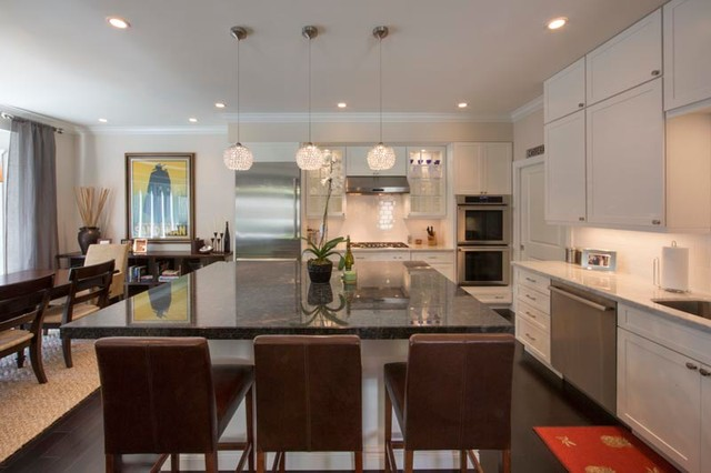 South Florida Modern Abode Fort Lauderdale Florida Transitional Kitchen