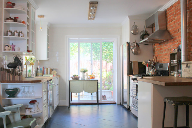 South Philly Row House Eclectic Kitchen Philadelphia By Sara Bates