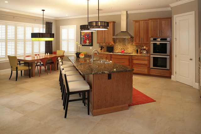 South Tampa Custom Home contemporary-kitchen