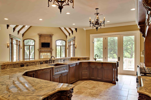 Southampton Builders  Luxury Custom Home In St. Charles Illinois  Traditional Kitchen