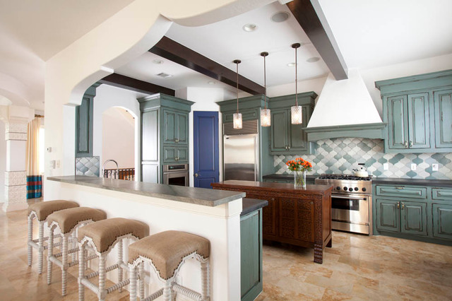Southampton Moroccan Mediterranean Kitchen Houston By Laura U Inc