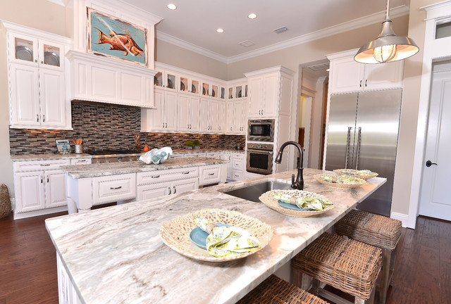 Old World Look Modern Style Kitchens And Living Room Combos