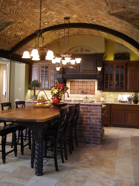 Southern living house rustic kitchen houston by for Southern living kitchen designs