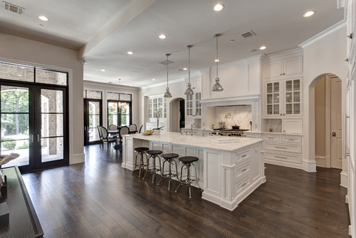 This Vast Dallas Cooking Space Thrives On Its Grandeur, Which Is  Accentuated By Its Clean, White Design And Large Island