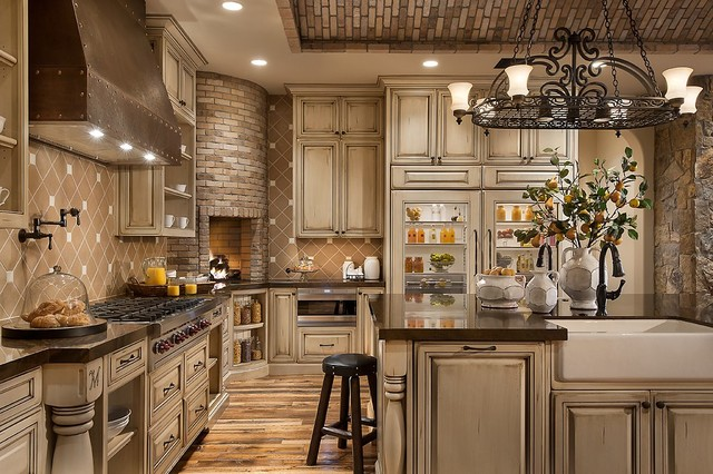 Old barn wood cabinets rustic barn wood kitchen cabinets tile - Southwestern Ranch Traditional Kitchen Phoenix By