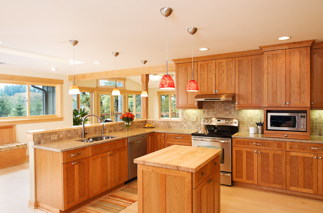 Spacious Addition traditional kitchen