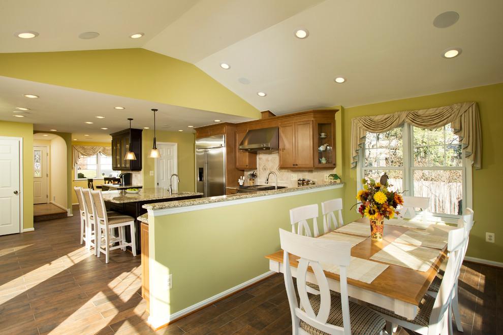 Kitchen - contemporary kitchen idea in DC Metro with granite countertops