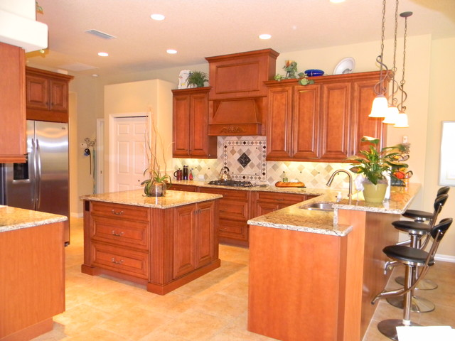 spacious kitchen design with island traditional kitchen tampa