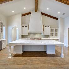 Spacious Kitchen  giant Carrera Marble Island
