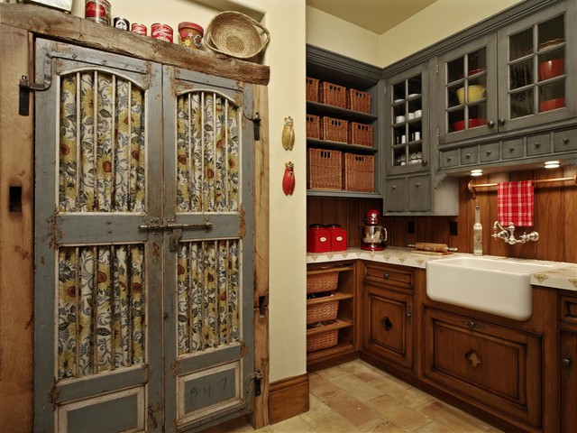 Spacious Walk-In Pantry with Apron Sink traditional-kitchen