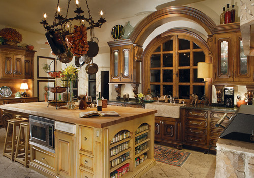 Spanish Colonial Bathroom Traditional Kitchen