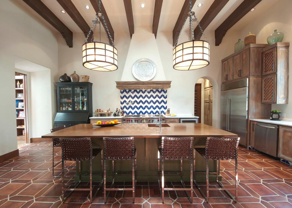 Spanish Colonial Kitchen Mediterranean Kitchen Austin By Dupont Cabinetry Design