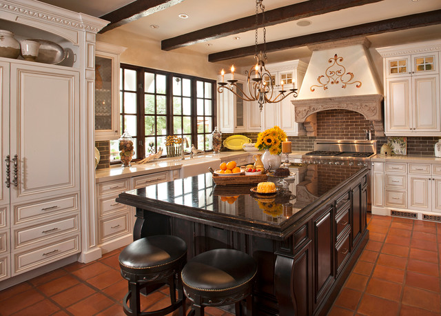 Spanish Colonial Remodel Mediterranean Kitchen