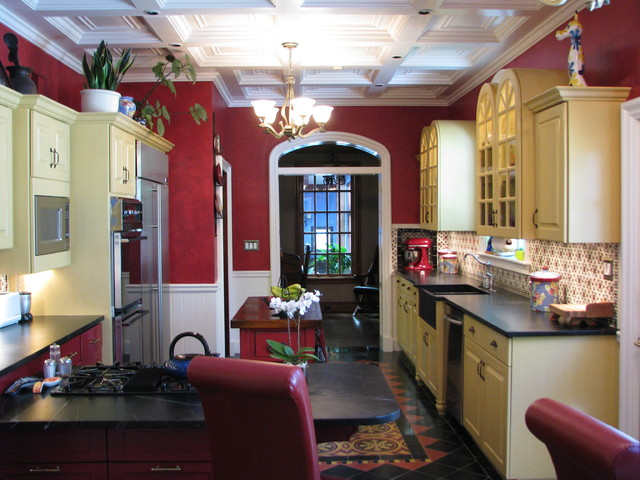 Spanish Colonial Revival Kitchen Southwestern Kitchen