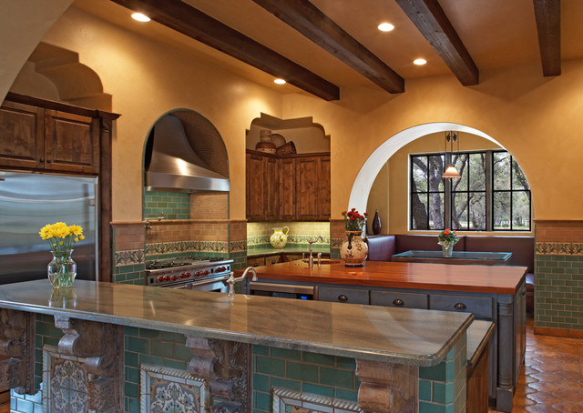 4500 Spanish Oaks eclectic kitchen