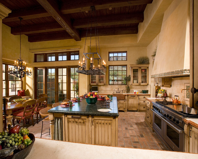 Spanish Hacienda Traditional Kitchen Phoenix By