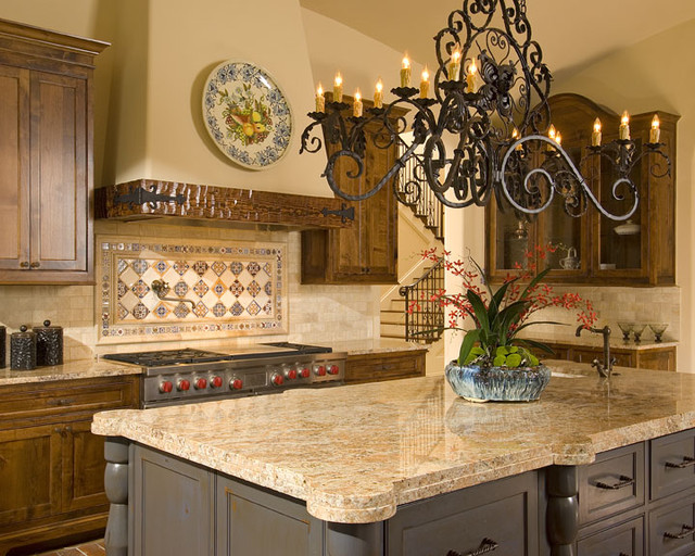 Spanish mediterranean mediterranean kitchen other for Spanish style kitchen backsplash