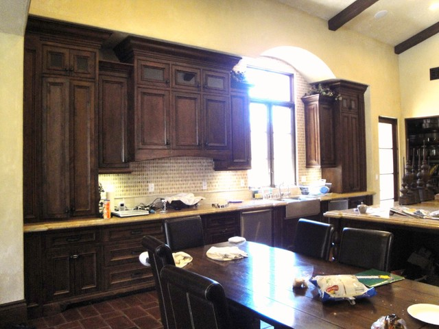 Spanish mission home in shady canyon mediterranean for Kitchen in the canyon