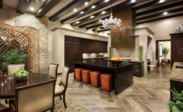Spanish Oaks Hacienda Mediterranean Kitchen Austin by