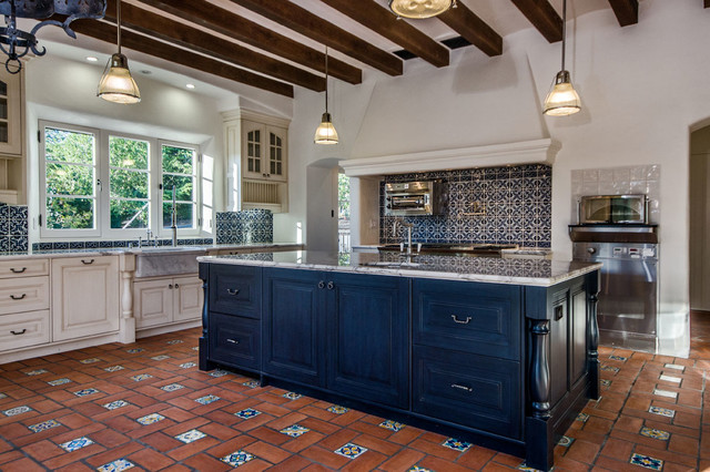 Spanish revival for Kitchen cabinets in spanish
