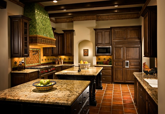 Spanish Revival Rustic Kitchen Phoenix By Dettaglio Interior