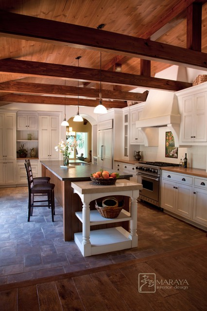 Spanish Revival Home Farmhouse Kitchen Santa Barbara By Maraya Interior Design