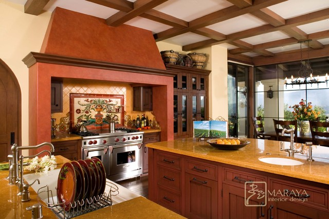Interior Designers Decorators Spanish Revival Kitchen With Malibu Tile Mediterranean