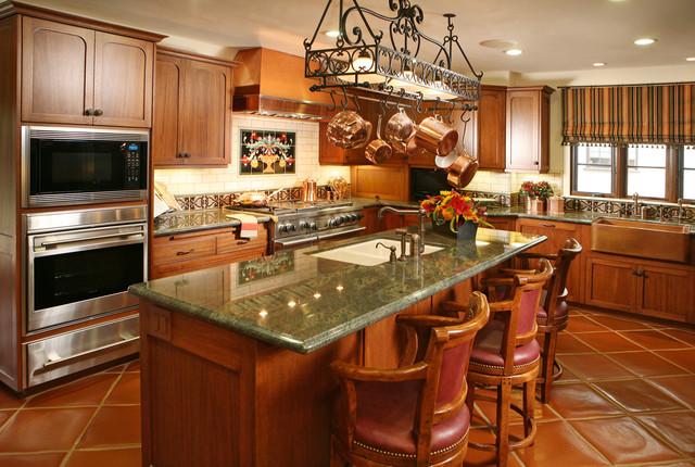 Spanish revival restoration mediterranean kitchen for Kitchen cabinets in spanish